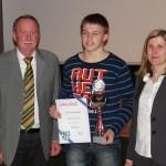 Leimener Sportler geehrt. Sportler des Jahres: Dennis Steinbächer, AC Germania St. Ilgen