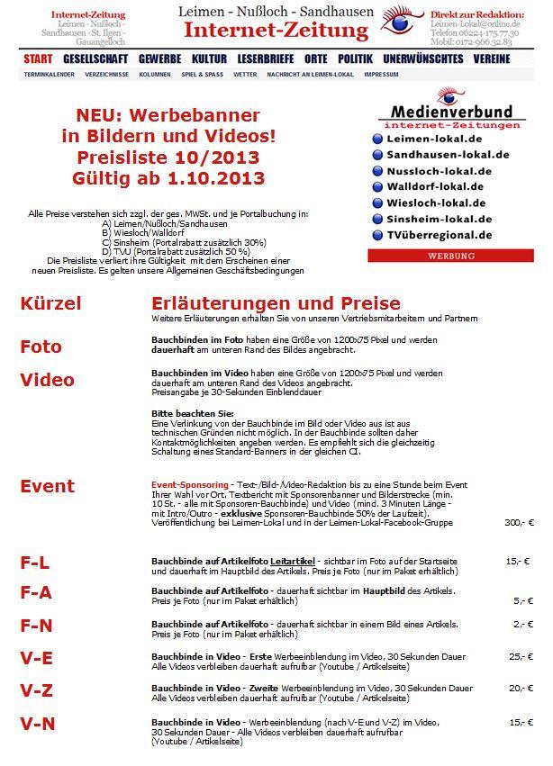 Werbebanner Foto Video 10-2013