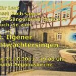 MGV Sängerbund Nachtwächtersingen am 21. Oktober