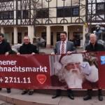 Bannerwerbung für den Weihnachtsmarkt