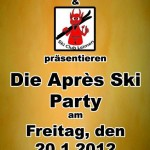 Skiclub: Apès-Ski-Party am Freitag, den 20. Januar