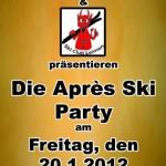 Skiclub: Apès-Ski-Party am Freitag, den 20. Januar