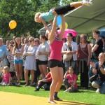 Großer Auftritt der Turner und Tänzer des TV Germania beim Lebendigen Neckar