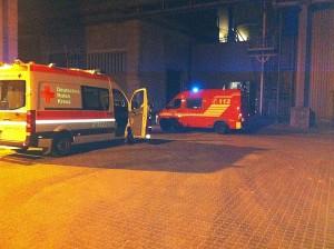 Hauptamtlicher RTW und GW-Mess der Feuerwehr