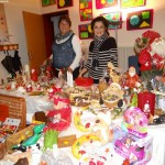 Winterlicher Weihnachtsmarkt mit Kettensägen-Künstler in Gauangelloch