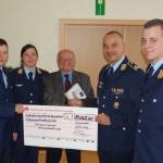 BW-Patenkompanie/Bataillon spendet 12.300 € an Volksbund & Soldatenhilfswerk