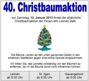 0015 - Christbaumaktion