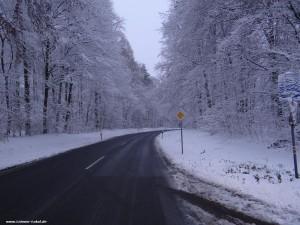 055 - Schnee Straße Winter