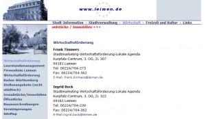 068 - Screenshot HP Stadt Leimen
