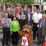 Leimen-aktiv im BdS: Verspäteter Fassbieranstich auf dem Georgi-Marktplatz
