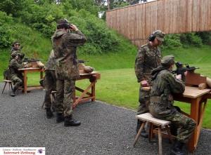 Schießausbildung in der Bundeswehr-Grundi