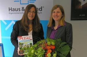 v.l.: Antje Bothe, Bürgermeisterin Claudia Felden