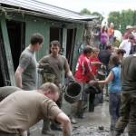 Leimens Bundeswehr-Paten-Bataillon beim Hochwassereinsatz in PASSAU