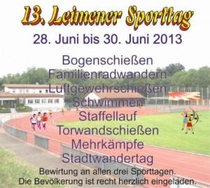 563 - Leimener Sporttag - Plakat I