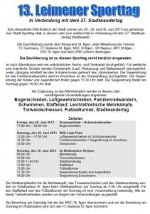 563 - Leimener Sporttag - Programm