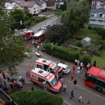 Schwerer Unfall in Leimen – vier Verletzte – Rettungswagen beteiligt
