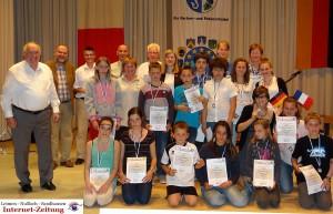 611 - Partnerschaftstreffen Tigy St Ilgen 26 Sportfest Urkunden