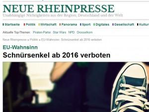 671 - Neue Rheinpresse Schnürsenkel