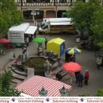 """Leimener Wochenmarkt mit vier Ständen extra – Die Währung war """"Ihre Stimme"""""""