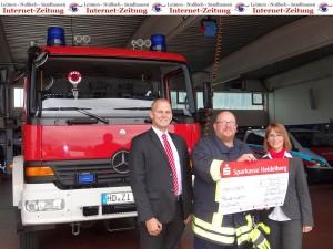 922 - Sparkassenspende Feuerwehr Nussloch