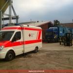 Sanitätsabsicherung Brandübungs-Container