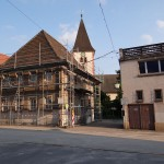 Das Michaelishaus in Leimen wird abgerissen – Sogar das Gerüst ist abbruchreif