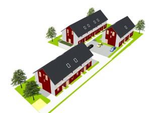 2089 - Neubau Lessingstrasse - 3D-Ansicht L9 eingangsseitig