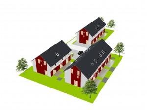2089 - Neubau Lessingstrasse - 3D-Ansicht L9 gartenseitig
