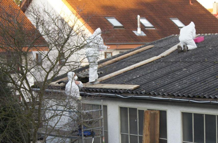 unn tiger polizeieinsatz nach anzeige wegen illegaler asbest entsorgung leimen lokal. Black Bedroom Furniture Sets. Home Design Ideas