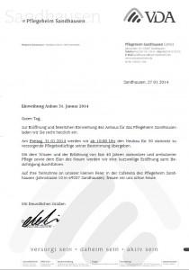 2108 - VDA Pflegeheim Sandhausen - Einladung Einweihung Anbau