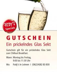 183 - Gutschein Leimen Glas Sekt