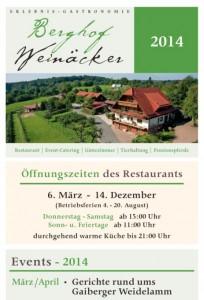 Berghof Weinäcker Saisoneröffnung 2014