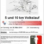 29. März: Germanenlauf / Volkslauf über 5 und 10 km in St. Ilgen