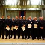 Sechs goldene Ehrenkreuze am Ehrungsabend der Leimener Feuerwehren verliehen