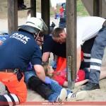 Eingestürztes Klettergerüst, 14 stark verletzte Kinder: Übung des DRK – Bevölkerungs-Schutzes