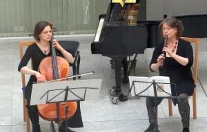 3514 - Lehrerkonzert Musikschule 8 Ute Schleich Blockflöte Katharina Uzal Cello