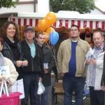 Info-Stand der CDU auf dem Leimener Wochenmarkt