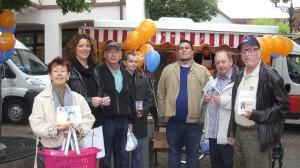 3697 - Wochenmarkt Stand CDU