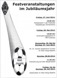 3703 - VfB 100 Jahre Festfolge
