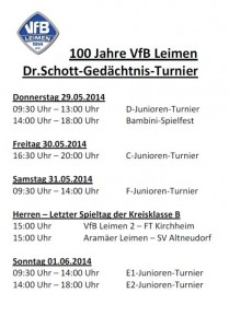 3795 - Schott-Turnier - Ablauf
