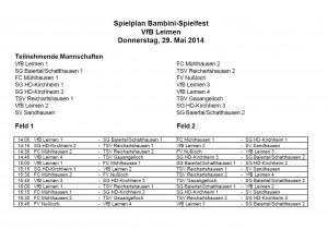 3795 - Schott-Turnier - Spielplan