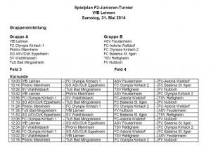 3795 - Schott-Turnier - Spielplan Samstag