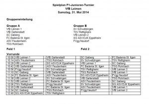 3795 - Schott-Turnier - Spielplan Samstag F1