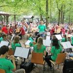 Waldfest des MV Sandhausen: Viele Orchester – Beste Stimmung – Am Ende leider Regen