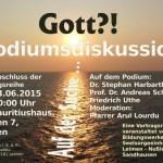 """23. Juni – Podiumsdiskussion zur Vortragsreihe: """"Gott?! Auf der Suche…"""""""