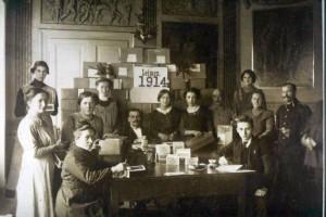 4120 - Weihnachten 1914  Pakete für Kriegsteilnehmer aus Leimen