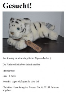 4127 - Tiger entlaufen