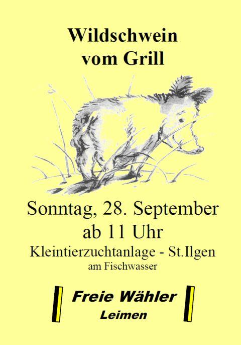 4238 - Wildschweinessen Freie Wähler
