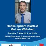 7. März: AfD Rhein-Neckar – Höcke spricht Klartext – Mut zur Wahrheit