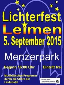 5559 - Lichterfest Liedertafel Plakat